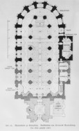 Vault ground plan of the St. Mary's Church